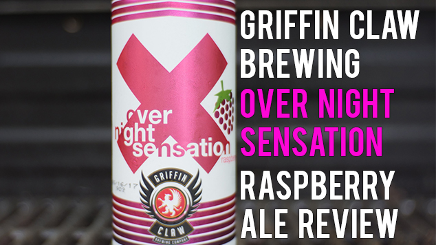 Griffin Claw – Overnight Sensation Raspberry Ale Review